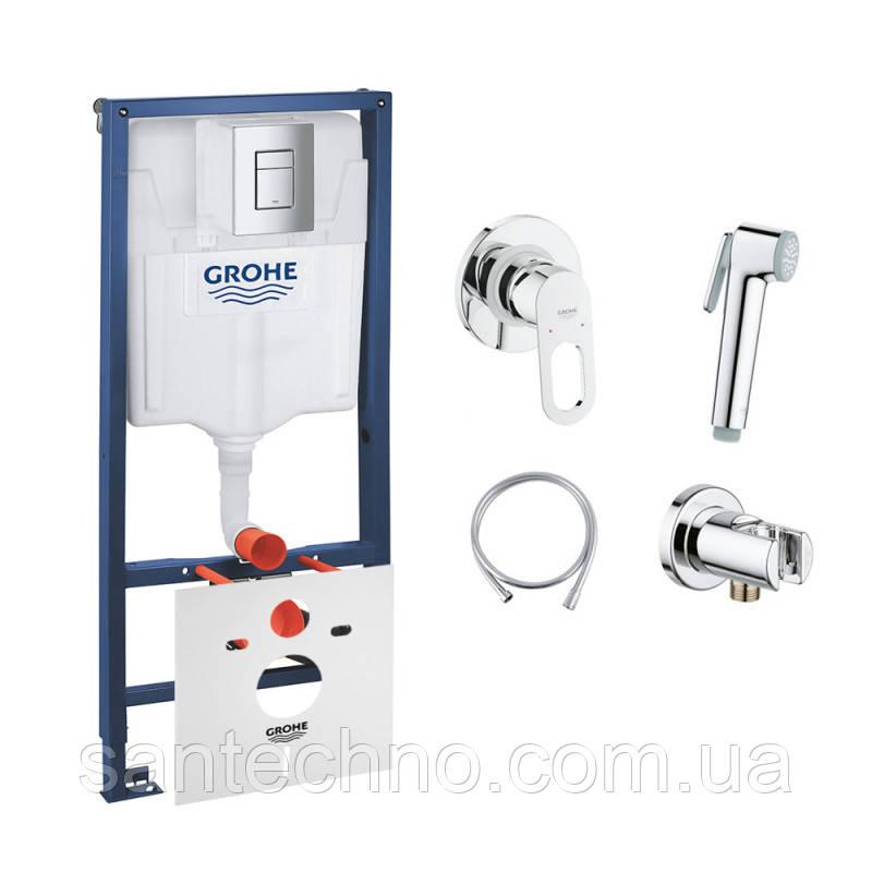 Комплект Grohe инсталляция Rapid SL 38772001 + набор для гигиенического душа со смесителем BauLoop 111042