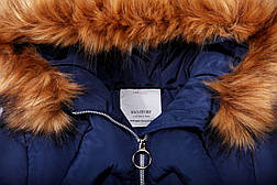 Подростковая зимняя куртка для девочки пудровая, фото 3