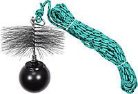 Набір для очищення димарів VOREL : шнур Ø= 6 мм, l= 10 м; йорж Ø= 175 мм; гиря- 1.8 кг