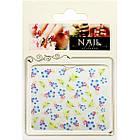 3D Наклейки для Ногтей Самоклеющиеся Nail Sticrer HSC004 Цветы Желтые, Голубые, Розовые, Слайдер Дизайн, фото 2