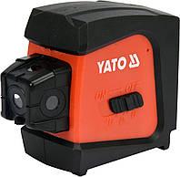 Нивелир лазерный линийно-точечный самовыравнивающийся YATO дальность- 20 м, точность- ±1.5 мм / 5 м