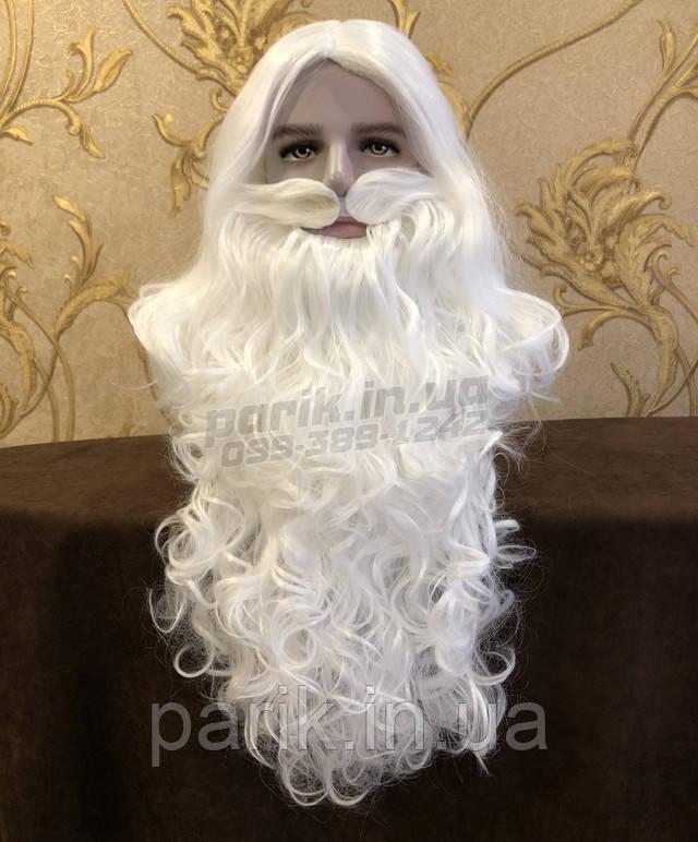 Профессиональная Борода Деда Мороза ВИД СПЕРЕДИ