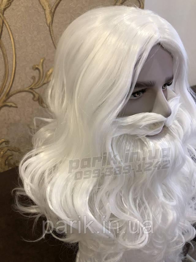 Профессиональная Борода Деда Мороза парик сверху справа