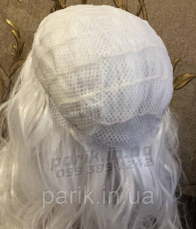 парик шапочка Деда Мороза из нутри