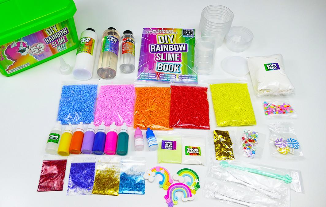 Слайм Набор для изготовления Слаймов  Слайм Бокс Rainbow добавки, клей, красители, ароматизаторы контейнеры