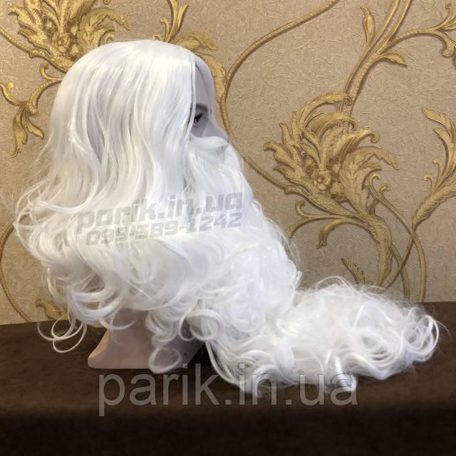 Профессиональная Борода Деда Мороза и парик справой стороны