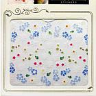 3D Наклейки для Ногтей Самоклеющиеся Nail Sticrer HSC030 Цветы Белые, Голубые Дизайн Ногтей, Слайдер Дизайн, фото 3