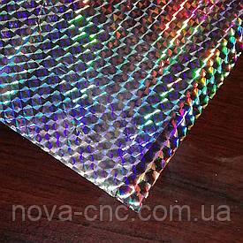 Плівка для гарячого тиснення Голограма срібло Ширина 64 см, довжина 100м