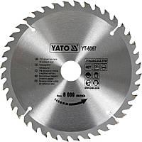 Диск пильный по дереву YATO 210 х 30 x 3.2 x 2.2 мм 40 зубцов R.P.M до 8000 1/мин