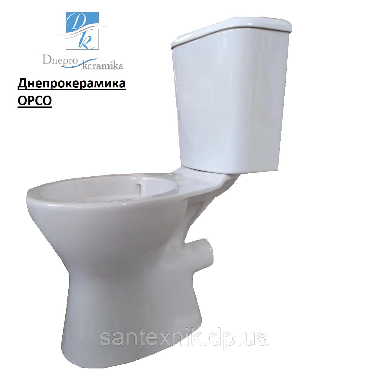 Унитаз ОРСО безободковый прямой выпуск DNEPROKERAMIKA