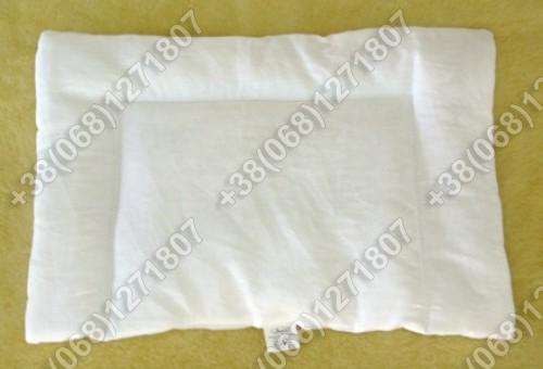 Детская подушка для новорожденных 40х60 белая