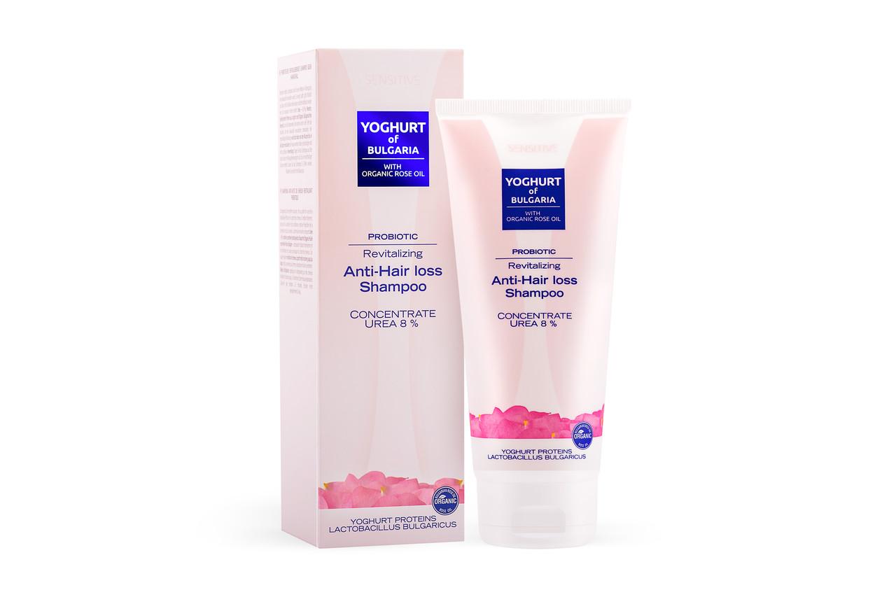 Відновлюючий шампунь проти випадіння волосся з пробіотиком Yoghurt of Bulgaria від BioFresh 200 мл