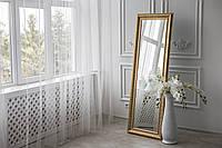 Зеркало в полный рост напольное 180х70 в раме Золото Black Mirror для дома в комнату прихожую спальню коридор