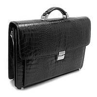 Мужской черный кожаный портфель Desisan для документов des-217-11, фото 1