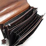 Чоловічий чорний шкіряний портфель Desisan 217-11 для документів з натуральної шкіри, фото 4