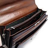 Чоловічий чорний шкіряний портфель Desisan 217-11 для документів з натуральної шкіри, фото 5