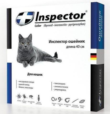 Ошейник ИНСПЕКТОР 40 см INSPECTOR  от блох и клещей для кошек