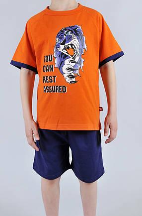 Пижама для мальчика Natural Club 1065 104 см Оранжевый, фото 2