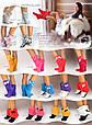 """Махрові тапочки, чобітки """"Purple"""", фото 3"""