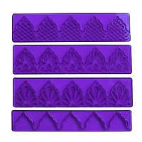 Бортик пластиковый для кружев (набор 4 шт)