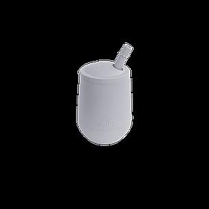 Чашка в наборе с крышкой и соломинкой серая, фото 2