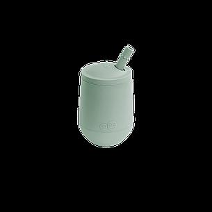 Чашка в наборе с крышкой и соломинкой  оливковая, фото 2