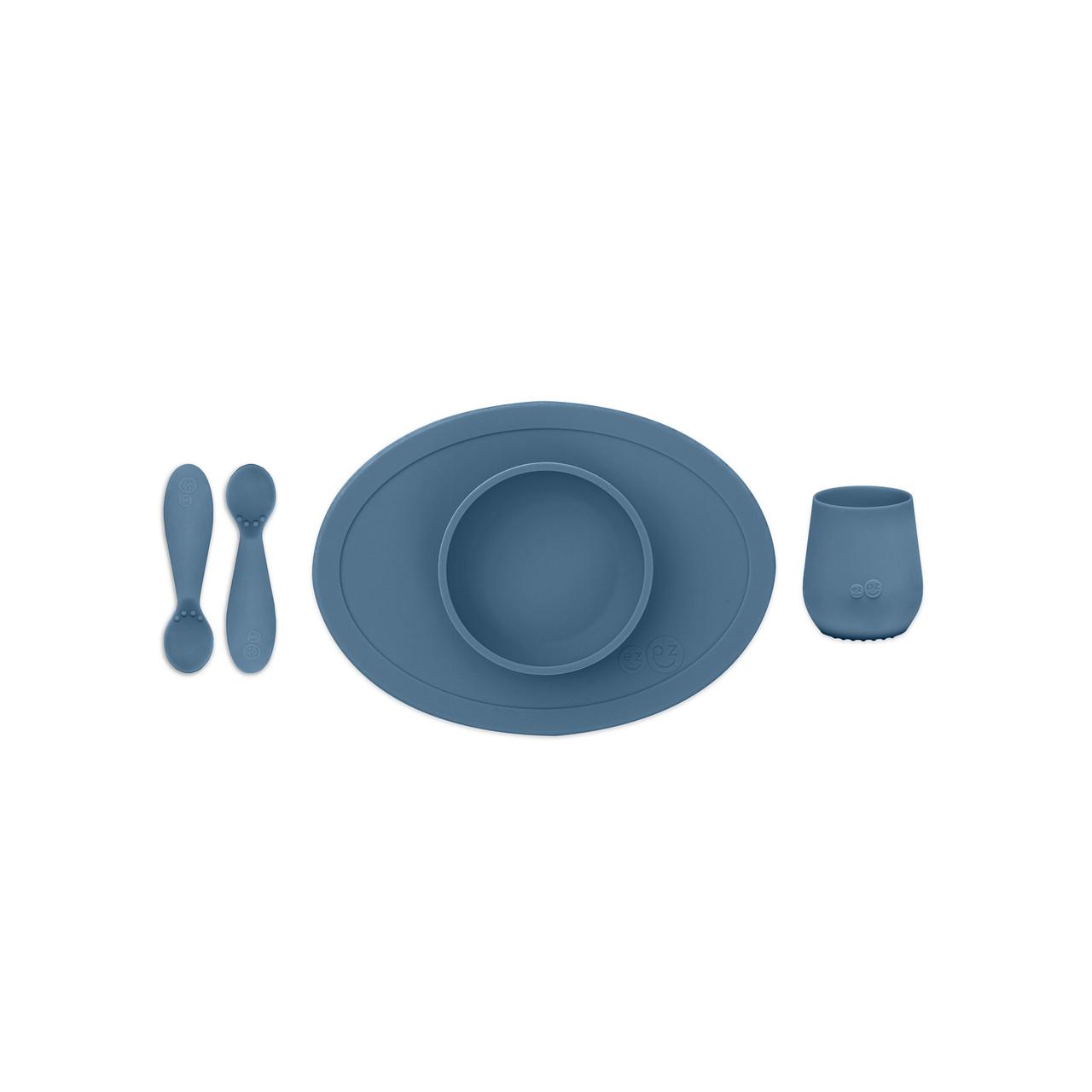 Перший набір посуду синій (4 од. в наборі)