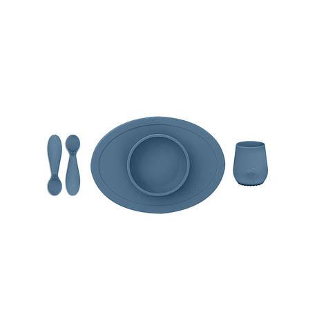 Перший набір посуду синій (4 од. в наборі), фото 2