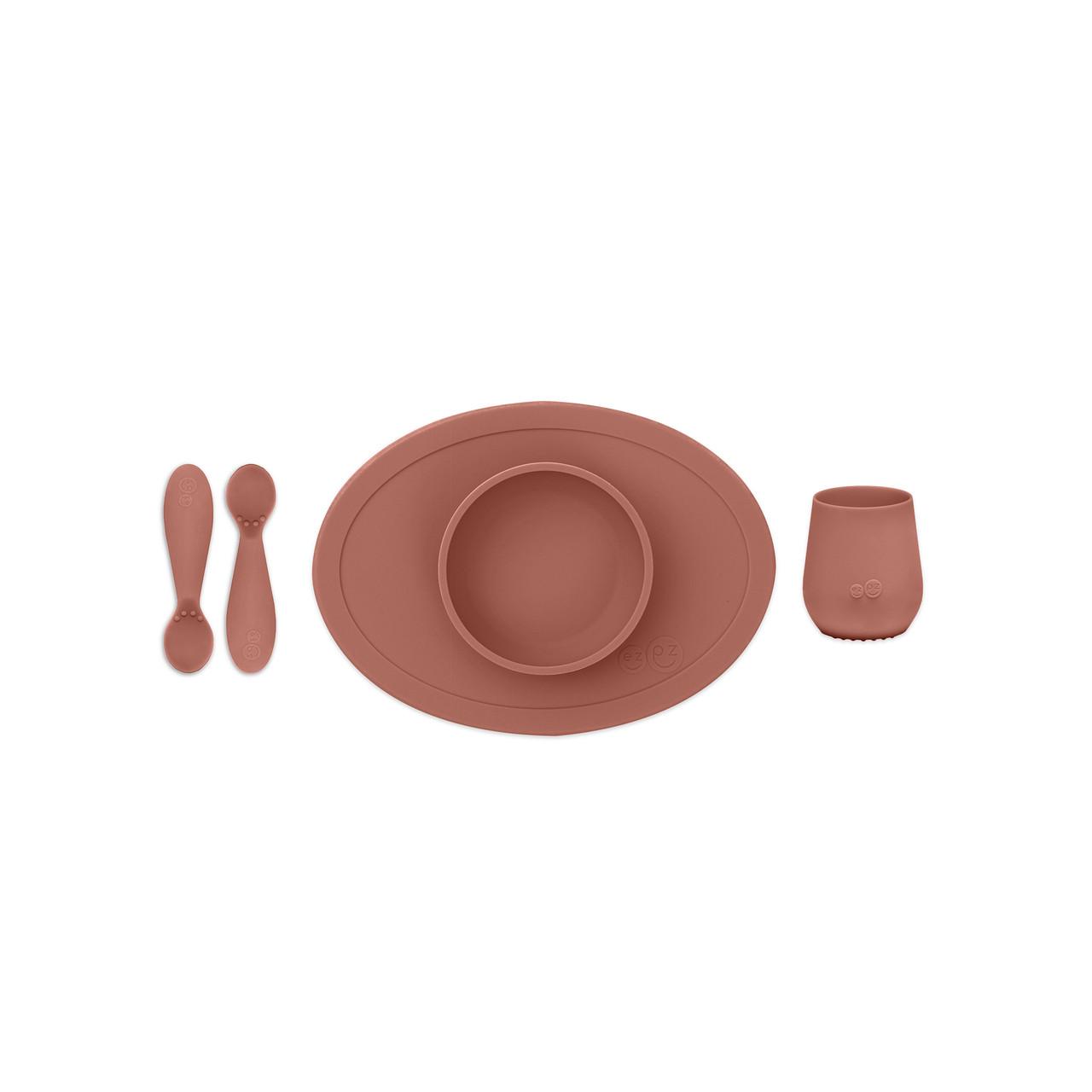 Первый набор посуды терракотовый (4 ед. в наборе)