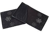 Бархатный раннер для праздничного оформления стола со стразами, 140см BonaDi SA0-827