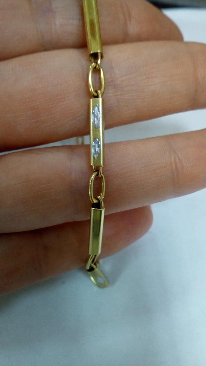 Золотой браслет желтое золото