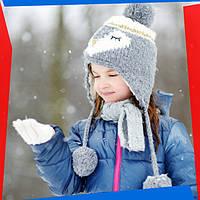 Стильный зимний детский образ