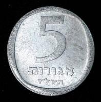 Монета Израиля 5 агорот 1974 г., фото 1