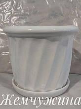 ЖЕМЧУЖИНА 5,0 л белый керамический вазон