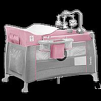 Кроватка-манеж Lionelo THOMI PINK BABY 125 x 68 x 79 см