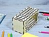 Карандашница з фанери на підставці (2241), фото 3