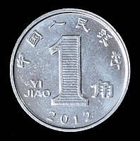 Монета Китая 1 джао 2012 г. Цветущая Орхидея
