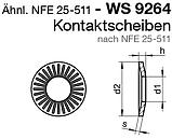 WS 9264 (NFE 25-511) : нержавеющая контактная шайба, фото 2