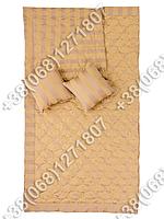 Покрывало Merkys 220х240 Venecija + 2 подушки 40х40 (золото)