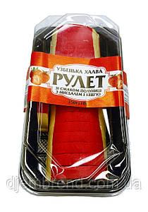 Халва-рулетузбекская со вкусом клубники с миндалем и кешью 350 г.