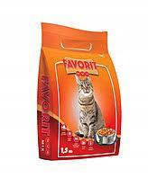 Cargill Полноценный Сухой корм для взрослых кошек с птицей говядиной и рыбой фаворит (1,5 кг)