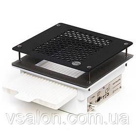Встраиваемая в стол маникюрная вытяжка с HEPA фильтром Teri 600 (сетка черная)