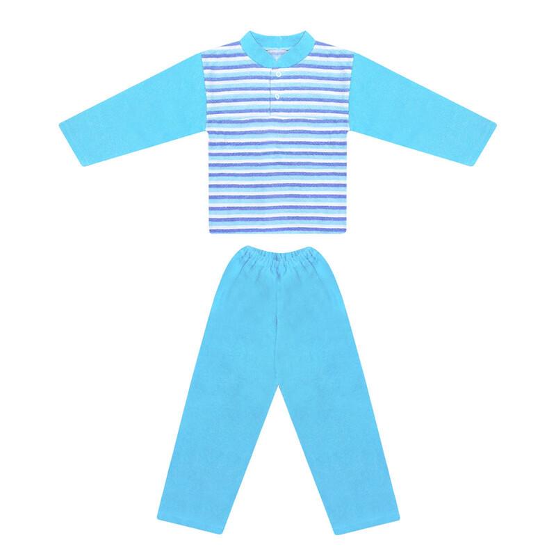 Детская теплая пижама для мальчика махра