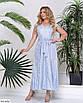 Літнє жіноче довге плаття великого розміру, розміри 52, 54, фото 5