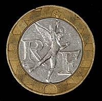 Монета Франции 10 франков 1990 г., фото 1