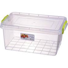 Пищевой контейнер с зелеными ручками 3,7 л - 0214