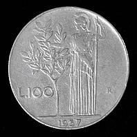Монета Италии 100 лир 1957 г., фото 1