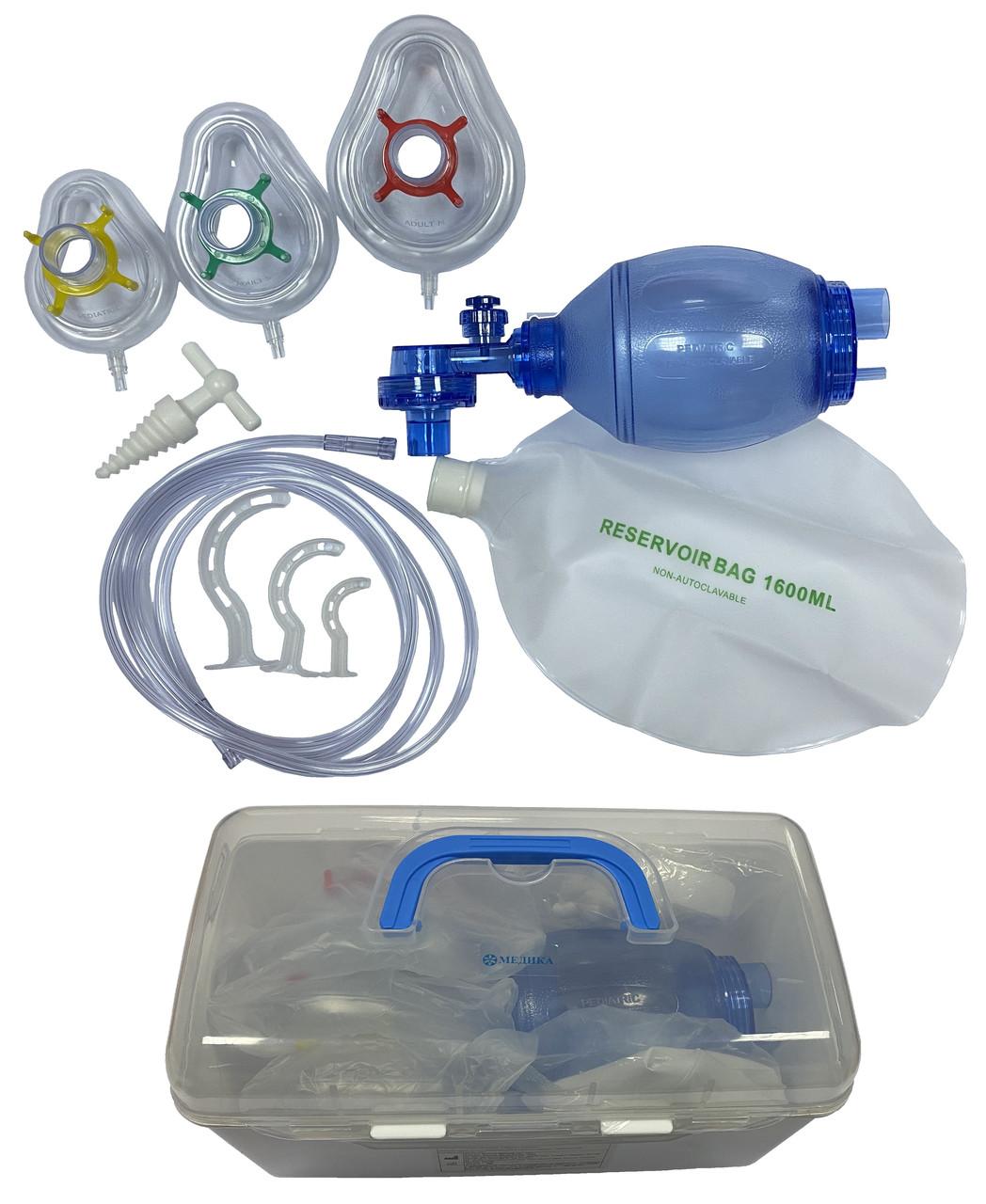 """TW8321G Апарат штучної вентиляції легень з ручним приводом """"МЕДИКА"""" ПВХ комплект """"Педіатричний"""""""