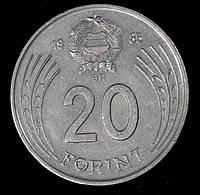 Монета Венгрии 20 форинтов 1985 г. Дьёрдь Дожа, фото 1