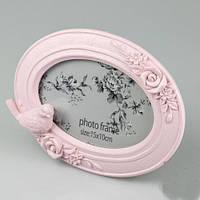 """Рамочка для фото """"Птичка"""" для фото 10х15 см, цвет розовый"""